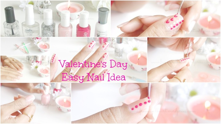 Valentine's Day Easy Nail Idea