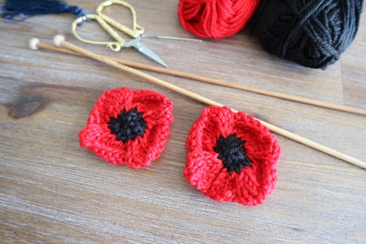 How to knit Poppies for Anzac Day or RemberanceDays